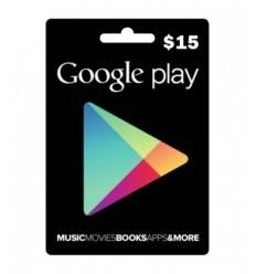 Gift Cards Google Play $15 USD