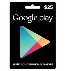 Gift Cards Google Play $25 USD