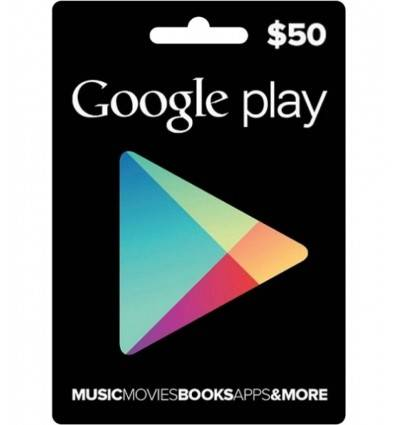Gift Cards Google Play $50 USD