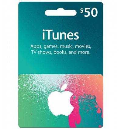 Gift Cards $50 Gift Card iTunes & AppStore